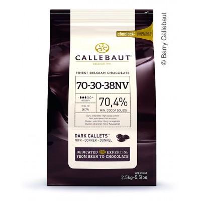 Hořká čokoláda Callebaut 70,4% 2,5 kg + 250g kakaového másla