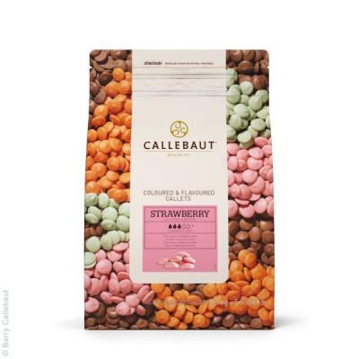 Jahodová čokoláda Callebaut 2,5 kg