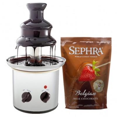 Čokoládová fontána Excelent + mléčná čokoláda Sephra 907 g
