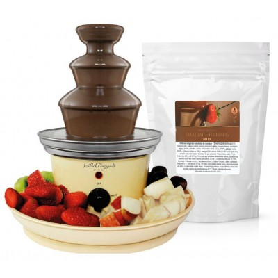 Čokoládová fontána PETITE + mléčná čokoláda Callebaut do...
