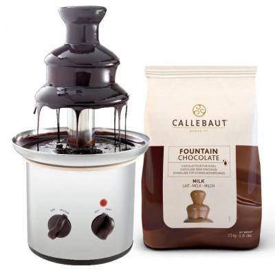 Čokoládová fontána Excelent + mléčná čokoláda Callebaut...