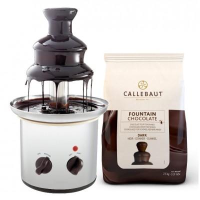Čokoládová fontána Excelent + hořká čokoláda Callebaut...
